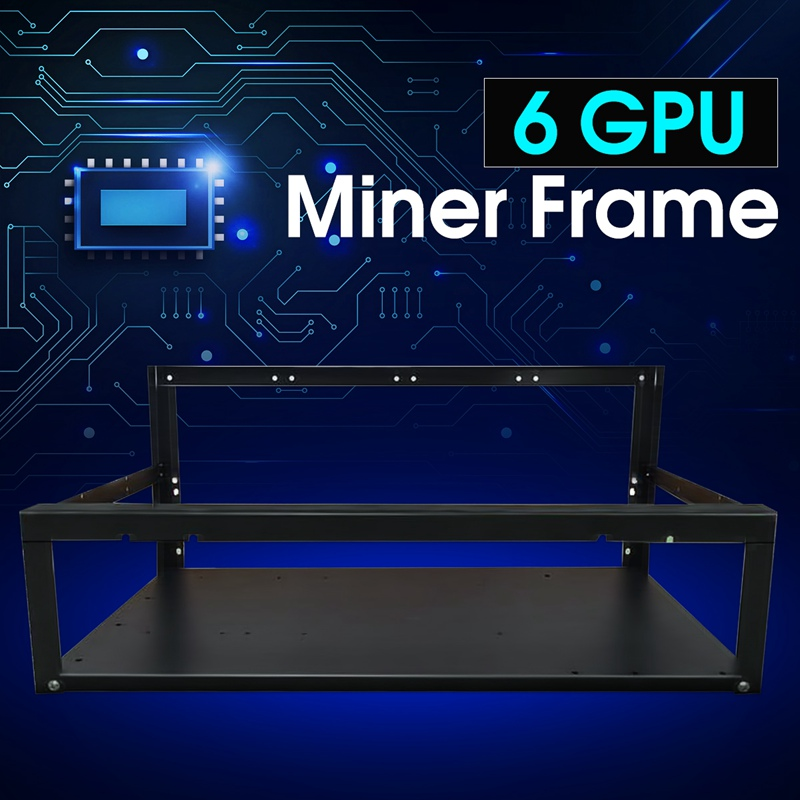 New font b Crypto b font Coin Open Air font b Mining b font Miner Frame