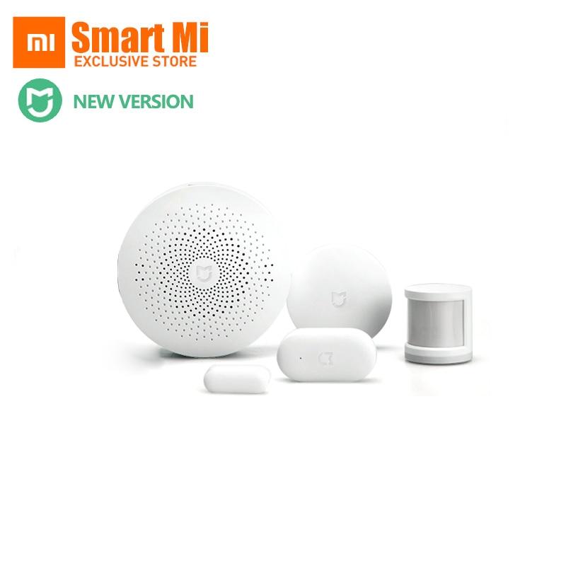 купить Newest Original Xiaomi Smart Home Kit Gateway Human Body Sensor Door Window Sensor Wireless Switch Automatic Smart Sets онлайн