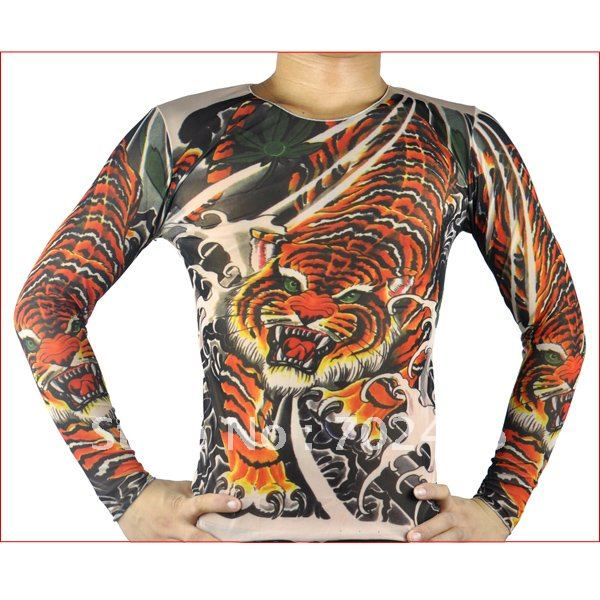 long sleeve fake tattoo t shirt mix designs with special price tattoo clothing temporary tattoo. Black Bedroom Furniture Sets. Home Design Ideas