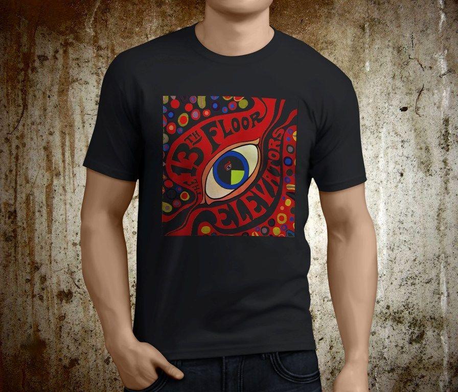 New Popular The 13Th Floor Elevators Rock Band MenS Black Tshirt Size S 3Xl