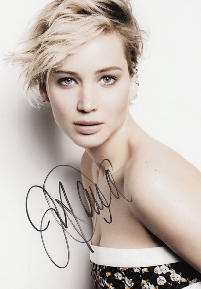 signed Jennifer Shrader Lawrence autographed original photo 7 inches collection freeshipping 062017