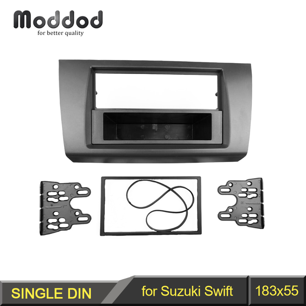 1 eller Double Din Radio Fascia för Suzuki Swift DVD-panel Dashmontering Trim Kit Frame Bezel Facia