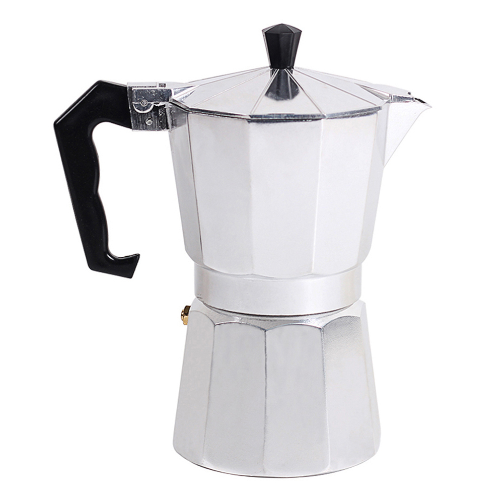 Italian Type Octagonal Household Aluminum Espresso Percolator Maker Coffee Heating Filter Pot Hand Punch Coffee Pot