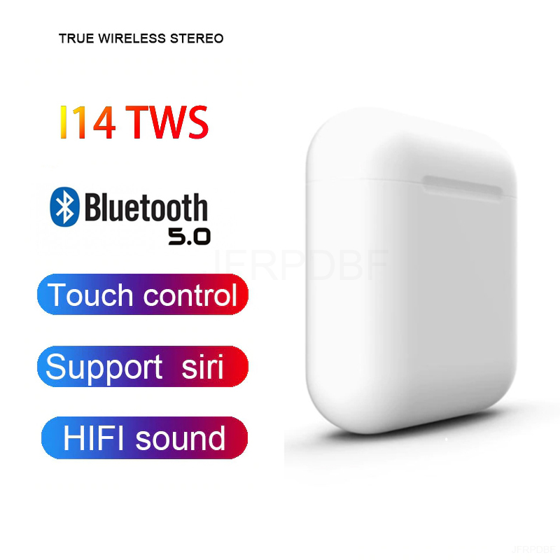 <font><b>i14</b></font> <font><b>TWS</b></font> Bluetooth <font><b>Original</b></font> Earphones Mini Wireless Earbuds Stereo Headphone Sports Headset Magnetic audifonos para celular elari image