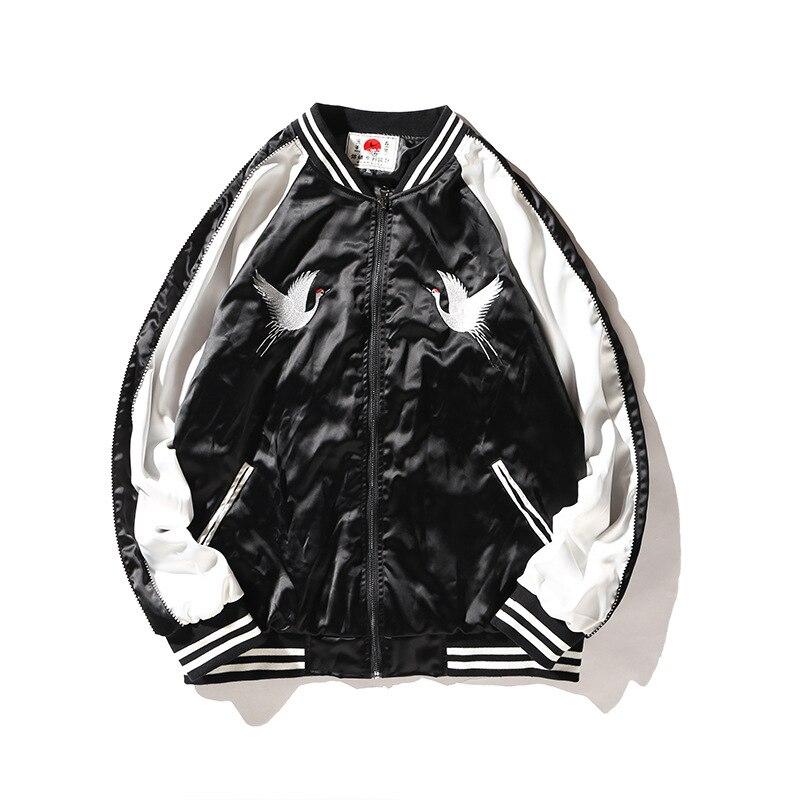 Chinois Hommes Veste Vestes Plus Broderie Style Grue Manteau Black Hip 2018 Patchwork Casual blue Hop Brodé Taille J0258 Oiseau xIqnAgwFY