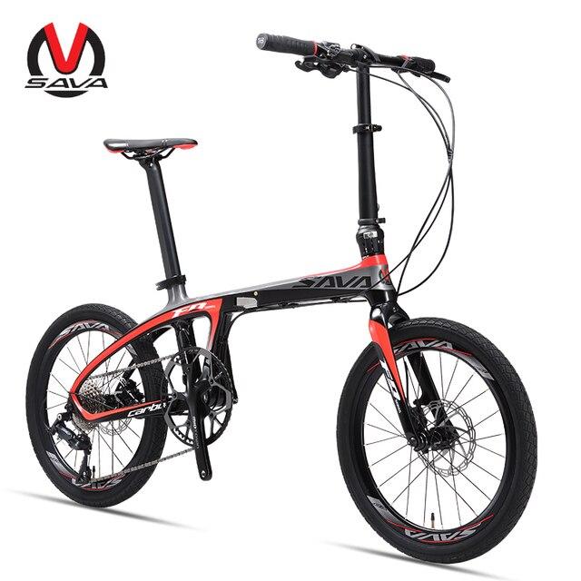 Складной велосипед 20 дюймов SAVA карбоновый велосипед складной мини карбоновый компактный городской велосипед складной с SHIMANO SORA 9 s
