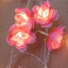 купить 10m 38 Flower Holiday Fairy Lights Guirlande Lumineuse LED Lights Luces Decorativas Christmas Lights Outdoor Wedding Decoration дешево