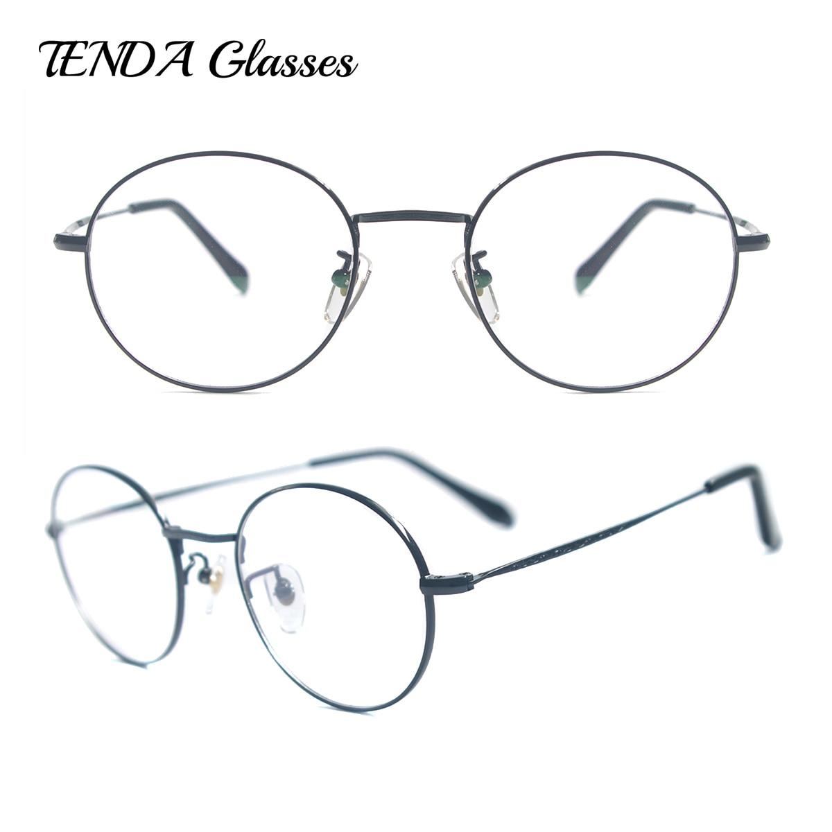 f0bc88b5b175 Men Ultra Light Pure Titanium Eyeglass Frames Vintage Eyewear Round Retro  Spectacles For Prescription Lenses-in Eyewear Frames from Apparel  Accessories on ...