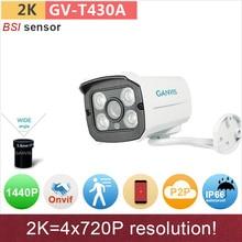 2 K UHD (4*720 P) IP caméra H.265 4mp/1080 P full HD en plein air mini bullet ONVIF P2P IR cctv vidéo surveillance caméra GANVIS GV-T430A