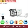 H.265 UHD (4*720 P) 2 K IP camera 4mp/1080 P full HD mini bala ONVIF P2P IR cctv câmera de vigilância de vídeo ao ar livre GANVIS GV-T430A