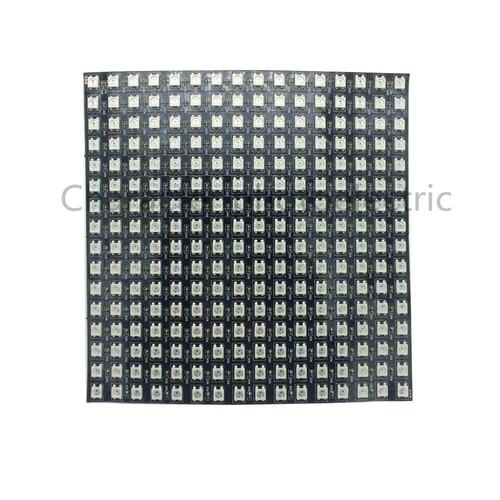 Купить с кэшбэком 8*8 16*16 8*32 WS2812 WS2812B 5050 RGB Full Color Flexible Pixel Panel 64 256 LEDs 5V DC display panel Combination of the screen