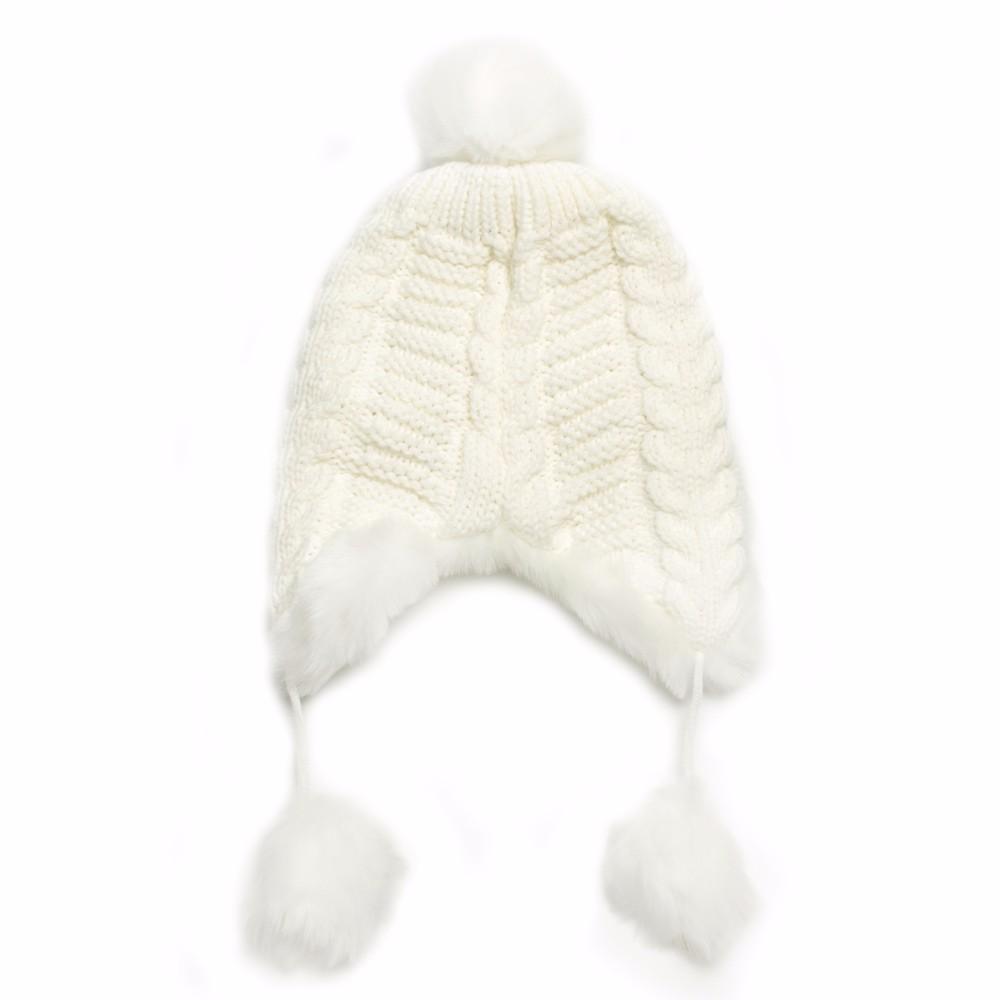 Woman Beanie Knitting Hat 2016 Happy Christmas Hats Bonnet Ladies Pompom Fur Snow Warm Skullies New Women\'s Winter Accessories (1)