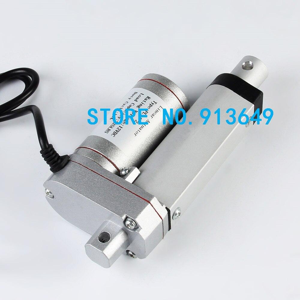 Livraison gratuite 30mm course super mini 12 volts actionneur linéaire avec charge maximale 1000N/100KGS/225LBS moteur linéaire