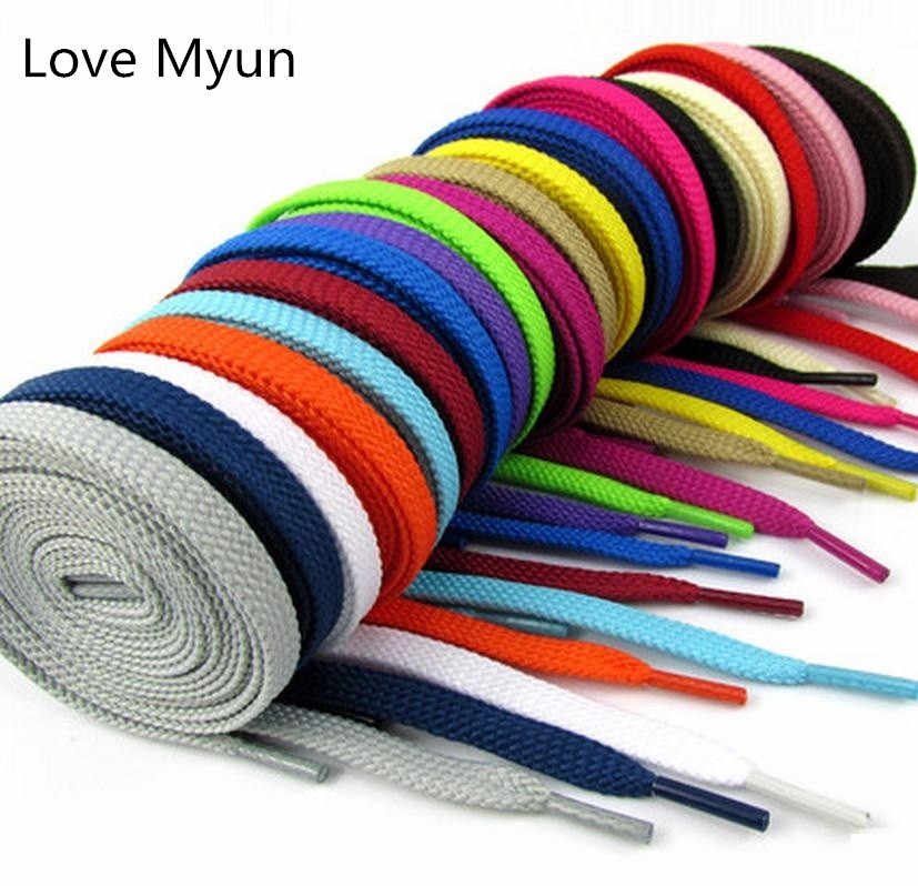 Double-Deck Flat Shoelaces Sneakers Shoelaces Sports Casual Canvas Shoe Laces White Black Yellow Green Red Brown Blue Shoelaces