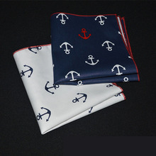 Cute Cotton Handkerchief with Anchor Prints