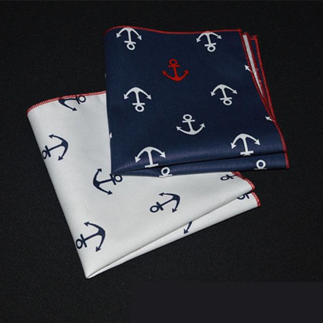 Cute Cotton Handkerchief with Anchor Prints