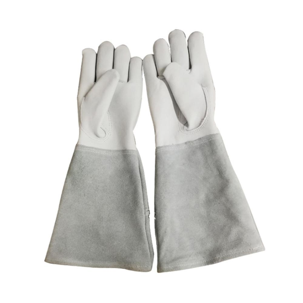 Breathable Goatskin Leather Thorn Proof Gardening Gloves  Rose Pruning Gloves S/M/L/XL