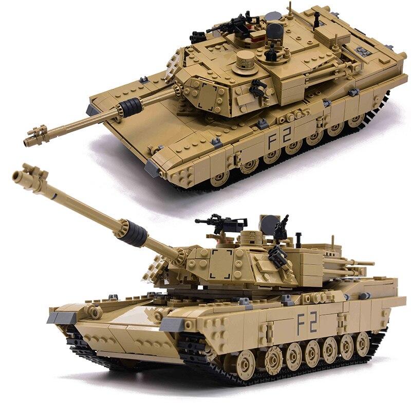 1463pcs Militare M1A2 Serbatoio Mattoni Abrams Serbatoio di Battaglia Principale Edificio Mini Figure Blocco Set di Modelli 2in1 Giocattoli Compatibile-in Blocchi da Giocattoli e hobby su  Gruppo 2