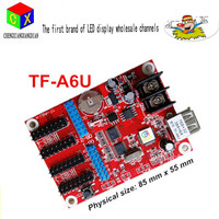 LED display control card full Color USB interface TF A6U(TF A5U) led scrolling sign led moving sign controller card