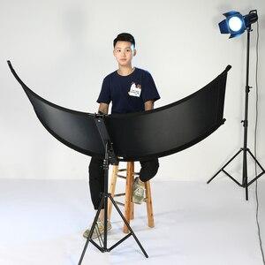 Image 3 - U סוג 160*55cm 3 ב 1 רפלקטור מתקפל צילום אור רעיוני מסך לסטודיו רב תמונה דיסק Diffuers acessorio