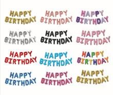 HAPPY BIRTHDAY Balloon US Version Letters Foil Balloons Alphabet Children Happy Birthday party Decorations Kid Supplies