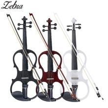 4/4 электрическая акустическая скрипка липа скрипка с Скрипка чехол бант для музыкальных струнных инструментов любителей начинающих