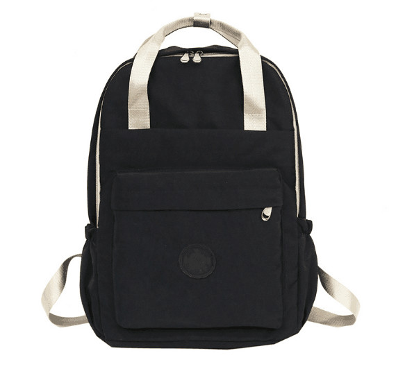 2019 casual canvas women solid backpack students rucksack