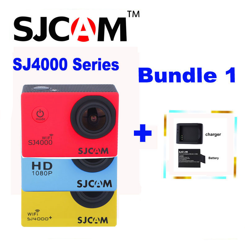 Original SJCAM SJ 4000 & SJ4000 WIFI & SJ4000 Plus 2'' Screen Sports 1080P HD Action Sports Camera + Extra a Batteries,a Charger free shipping 4k hd wifi sports action camera 2 0 lcd 16mp extra 2 batteries 32gb tf card