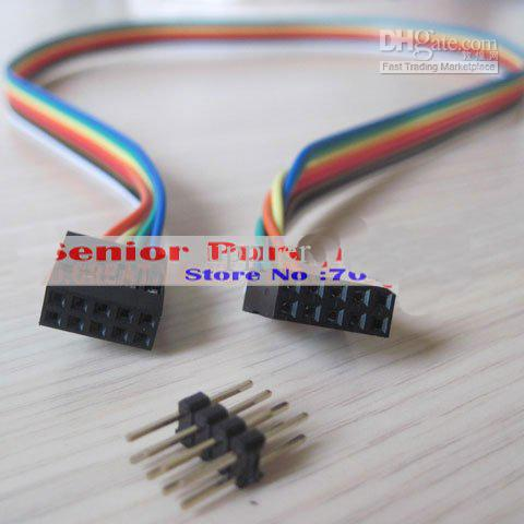 1 piece ATX case Internal Motherboard mainboard host case USB male to female Extension Cable 8p retail wholesale