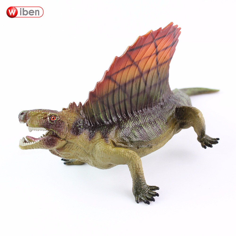 Wiben Jurassic Dimetrodon Dinosaur Toys Action & Toy Figures High Simulation Animal Model Collection Birthday Gift For Kids wiben jurassic carnotaurus action figure animal model collection vivid hand painted souvenir plastic toy dinosaur birthday gift