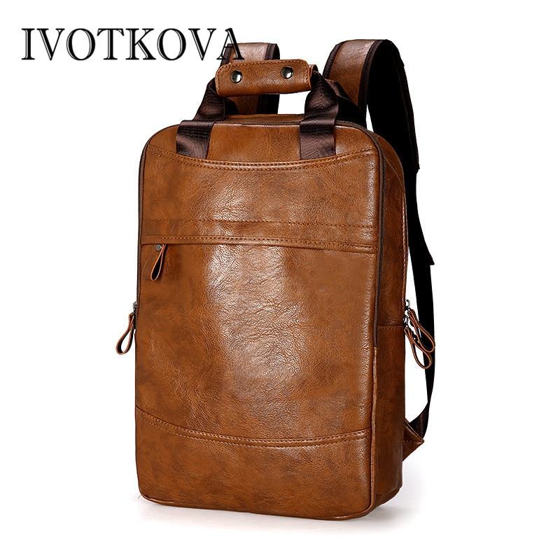 IVOTKOVA  2019 New Designer Men Business Backpack Travel Waterproof Slim Laptop School Bag Office