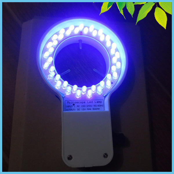 все цены на 48 PCS LED Microscope UV Ring Lamp 60mm Inner Diameter Purple Color Ring Light with Adapter for Microscope Illumination онлайн