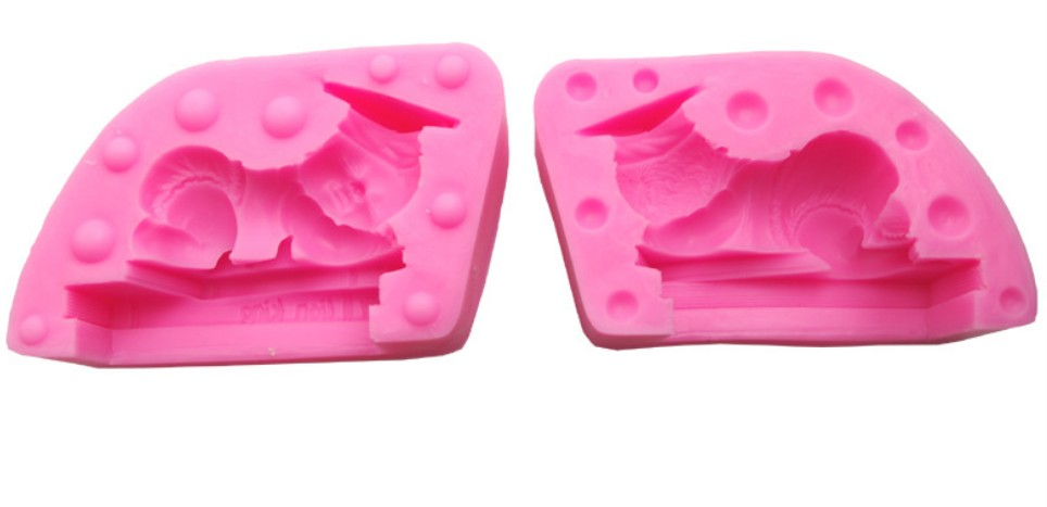 3D Doctor baby sleeping Book silicone fondant cake mold Salt carving mould 10*6.2*6.2cm DIY Candle mold baby shower party E447