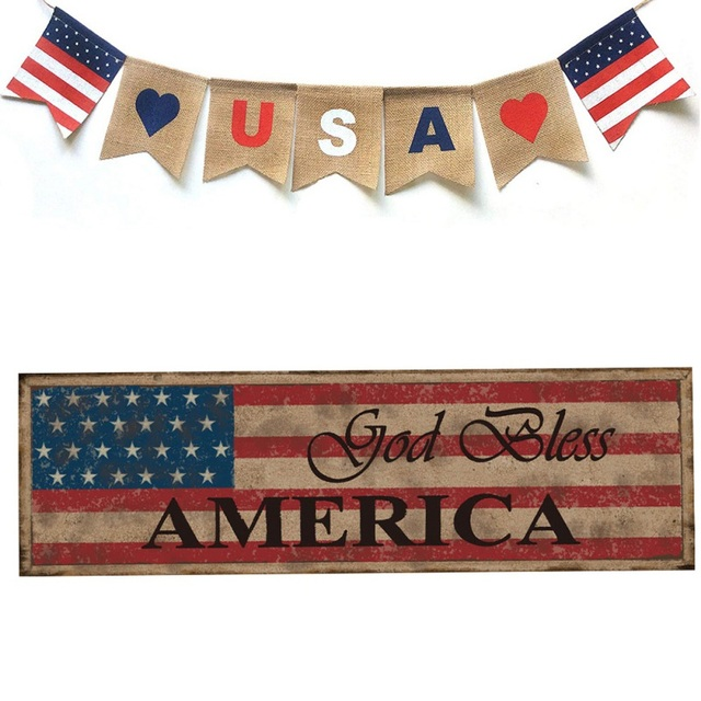 Vintage American Styled Plaque