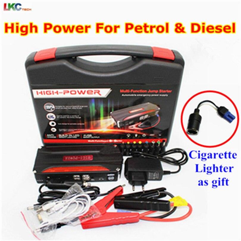 Meilleur voiture batterie d'urgence 12 V batterie externe voiture saut démarreur Booster Portable 600A pic courant multi-fonction voiture saut démarreur