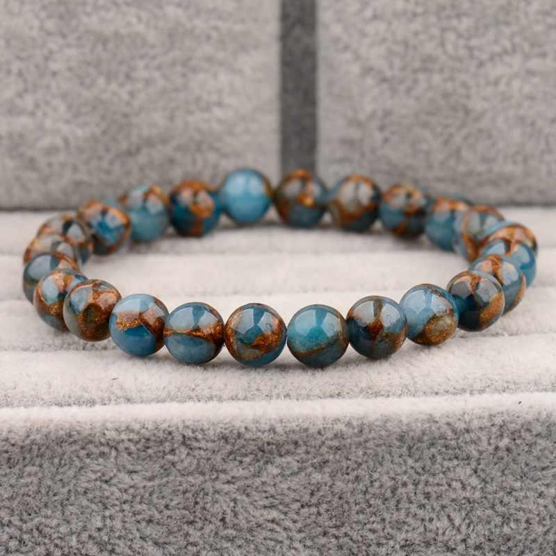 2020 Nieuwe Zomer Stijl Natuursteen Kralen Armband Aventurijn/Tiger Eye Kralen Stretch Armbanden Bangles Vrouwen Mannen AB176