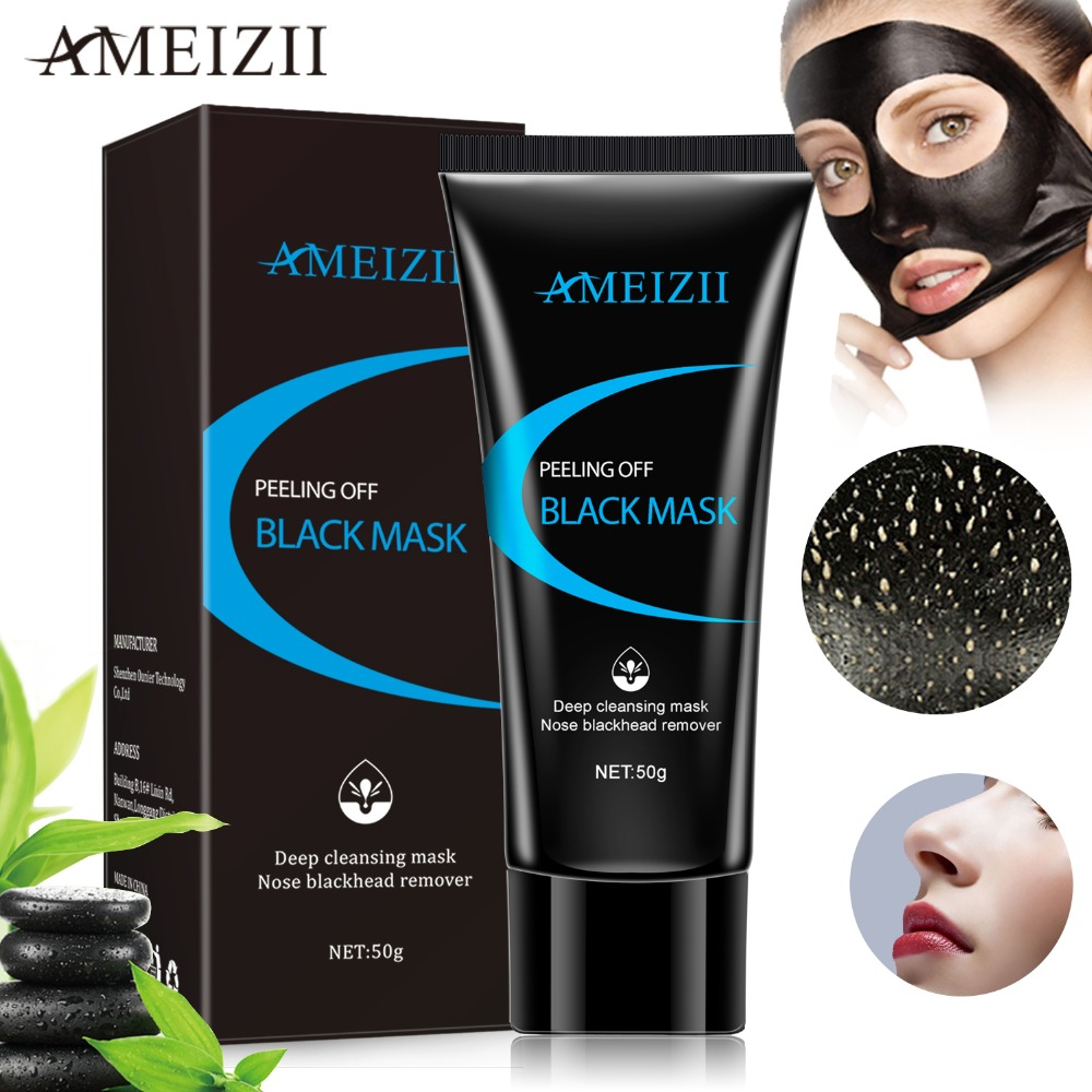 Diy Volcanic Acne And Skin Cleansing Face Mask: AMEIZII Blackhead Remover Face Mask Deep Cleansing Black