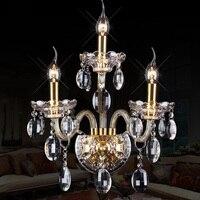 Sala de estar grande K9 de cristal luzes de parede lâmpadas Espelho do quarto E14 vela ouro Levou arandela cabeceira Casa levou parede iluminação