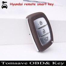Envío de la Nueva Tarjeta Inteligente Clave FOB Remoto Con la Viruta ID46 433 Mhz Para Hyundai Verna