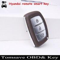 Freies Verschiffen Neue FOB Remote Smart-key-karte Mit ID46 Chip 433 Mhz Für Hyundai Verna