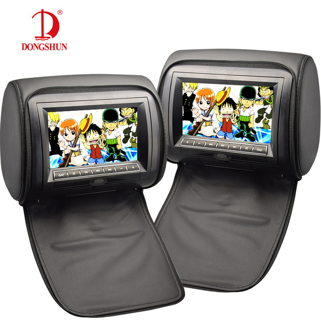 2 Pcs Car Headrest CD DVD Player With HD Digital Screen 7 Inch FM USB SD Zipper Cover Games