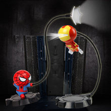 Childrens Gifts Night Lamp Table Spider-Man American Captain Hulk Iron Man Avengers Alliance Bedroom Living Room Decorative