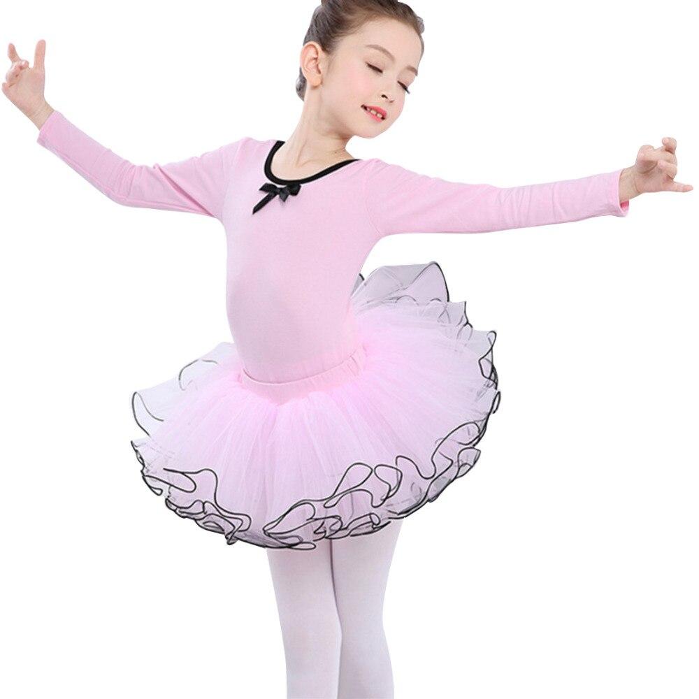 Girls Clothing Set Princess Skirt Kids Girls Round-neck Long Sleeve Tops+Skirt Suit Fluffy Ballet Dance Skirts Leotard Tutu skirt junona skirt