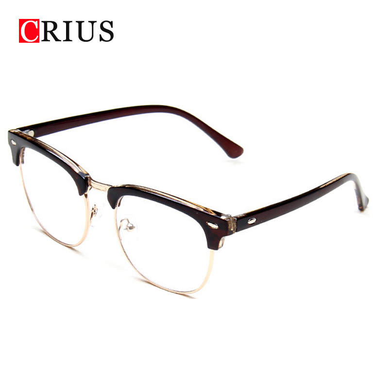Half Frame Glasses Boots : Aliexpress.com : Buy Mens optical glasses frame women ...