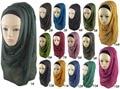 180*100cm Muslim islamic Plain Oversize Maxi Scarf Shawl Hijab Wrap Sarong Viscose Shawl Women Scarves 43colors Available