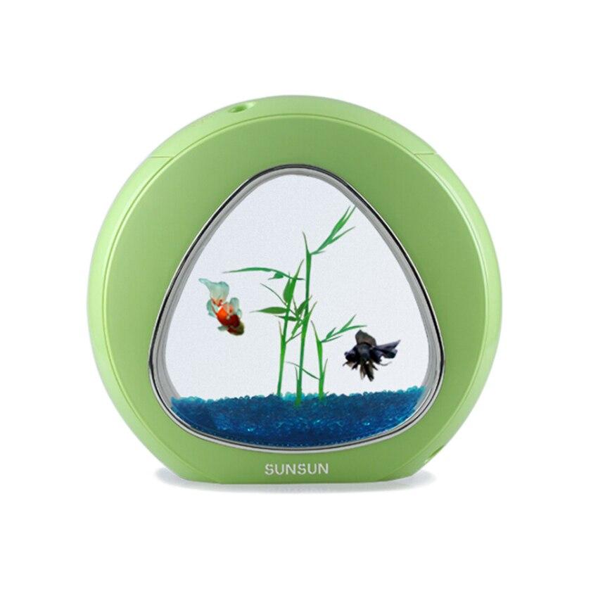 Mini aquarium aquarium aquarium poisson bol aquarium réservoir 110 V-220 V/USB LED éclairage vient aérobie système de filtration intégration - 4