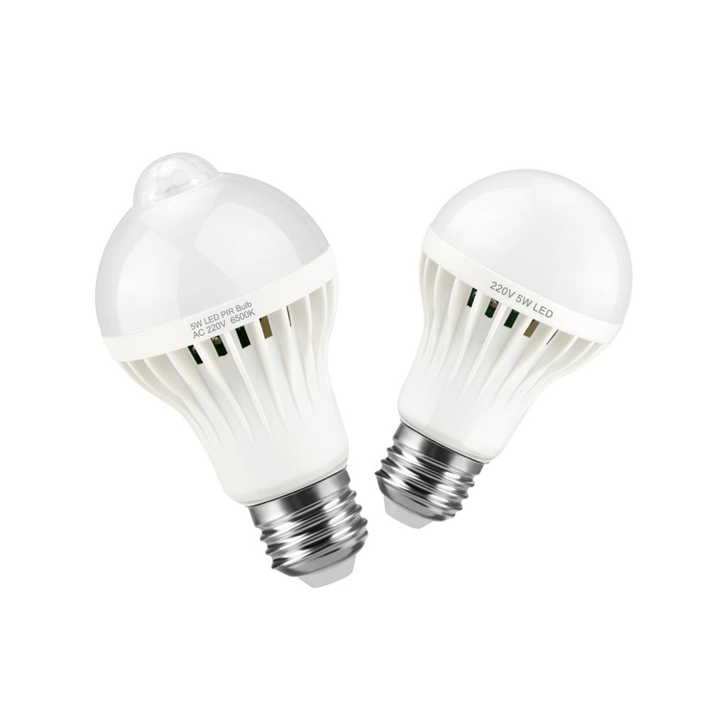 Lights & Lighting Pir Motion Sensor Light Bulb 5w 7w 9w 12w 18w Led Lights Pir Sensor Led Lamp Kitchen Closet Cabinet Emergency Lighting Ac 220v Cool In Summer And Warm In Winter
