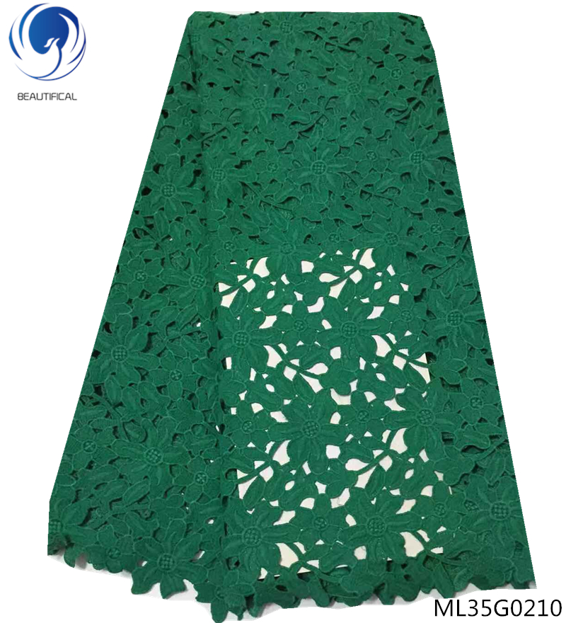 BEAUTIFICAL green guipure cord lace guipure lace fabric african water soluble lace fabric african free shipping for man ML35G02BEAUTIFICAL green guipure cord lace guipure lace fabric african water soluble lace fabric african free shipping for man ML35G02