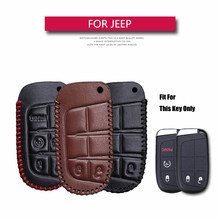 KUKAKEY For Jeep Auto Car Key Case Leather Key Cover For JEEP Wrangler Patriot Grand Cherokee Compass Liberty Key Coldre Bag