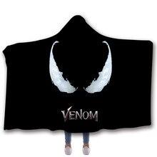 Fans Wear Venom Spiderman Sweatshirt Zipper Hoodies Cosplay Costume Unisex Winter Hoodie Casual Coat Movie Superhero